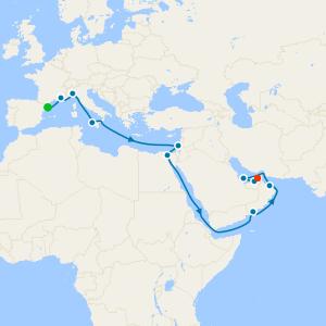 Barcelona to Dubai