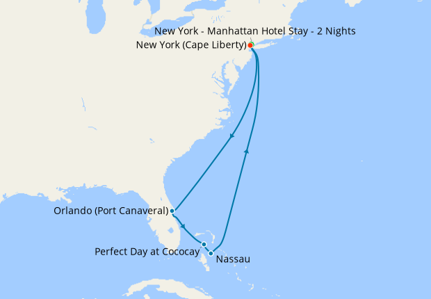 Bahamas & Perfect Day from New York with Stay