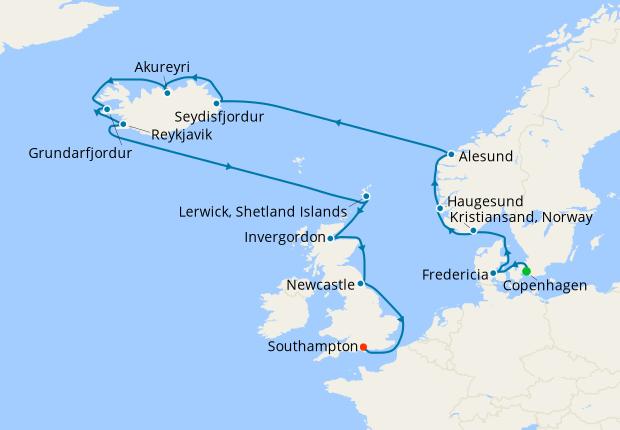 Norway & Iceland from Copenhagen