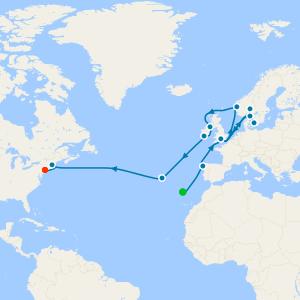 Transatlantic from Copenhagen to New York