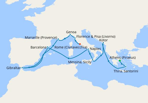 Western & Eastern Mediterranean from Athens