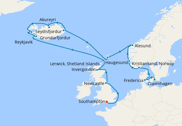 Norway & Iceland from Copenhagen with Stay