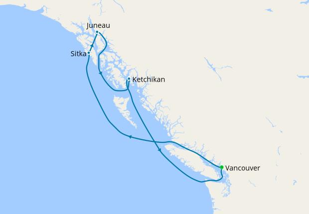 Alaska with Hubbard Glacier from Vancouver