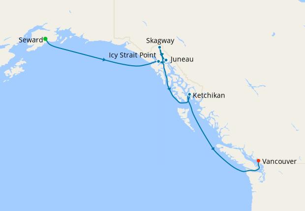 Alaska Southbound Glacier Cruise from Seward