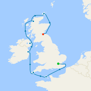 British Isles from London