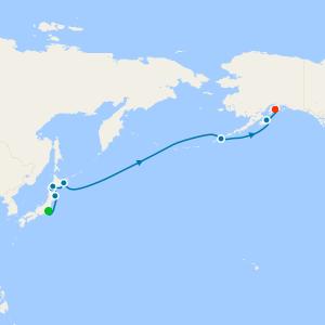 Japan to Alaska from Tokyo