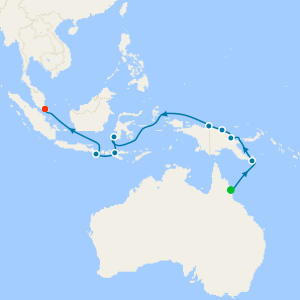 Papua New Guinea & Indonesia from Cairns
