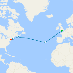 Transatlantic, Boston & The Azores from Southampton to New York