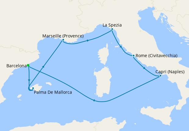 Half Term Western Mediterranean from Barcelona