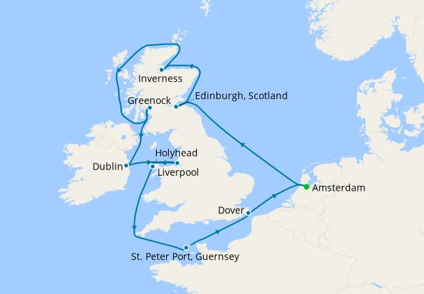 British Isles from Amsterdam