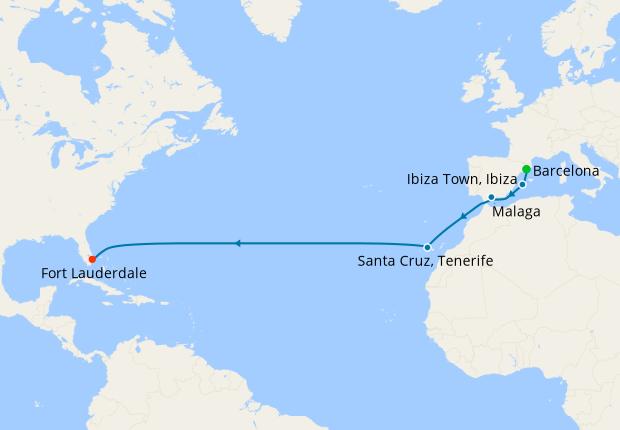 Spanish Transatlantic from Barcelona to Ft. Lauderdale