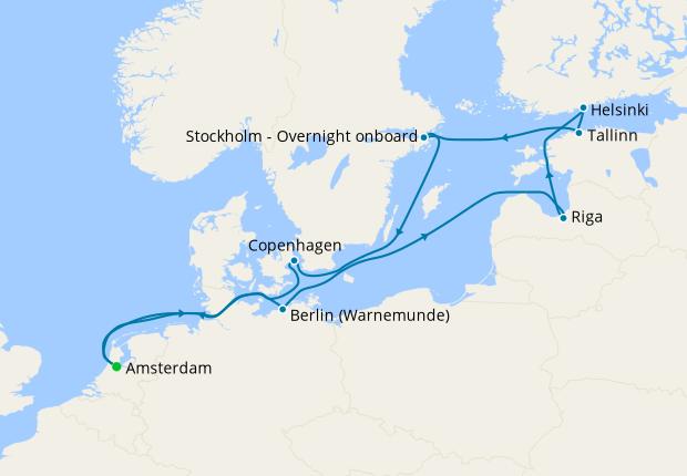 Scandinavia & Russia from Amsterdam
