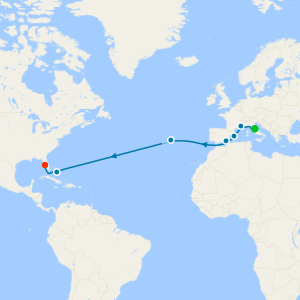 Mediterranean Passage Transatlantic from Rome to Tampa