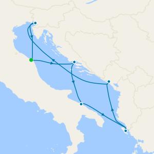 Italy, France, Spain & Tunisia from Genoa