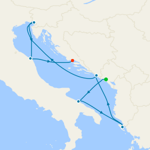 France, Spain, Tunisia & Italy from Marseille