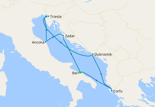 Spain, Tunisia, Italy & France from Barcelona