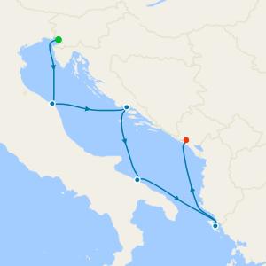 Italy, France, Spain & Tunisia from Palermo