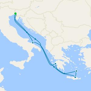Italy, Greece & Croatia from Bari