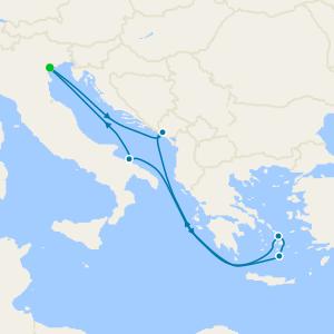 Italy, Montenegro, Greece & Albania from Venice