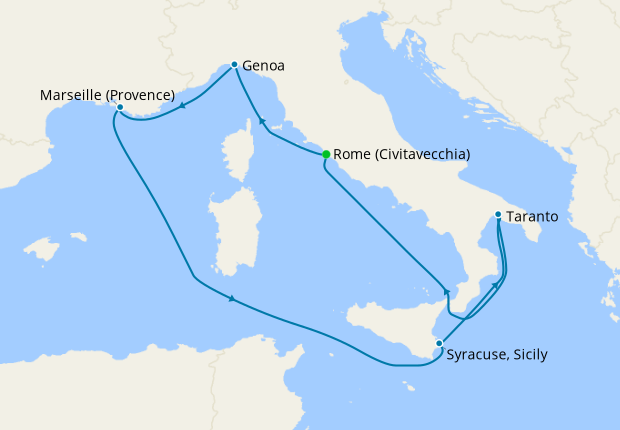 Italy, France & Spain from Livorno