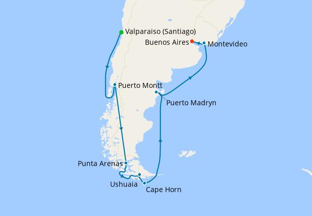 Patagonia & Argentina from Valparaiso