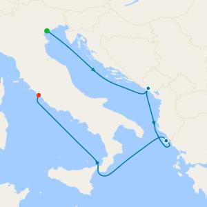 Italy, Montenegro & Greece from Venice