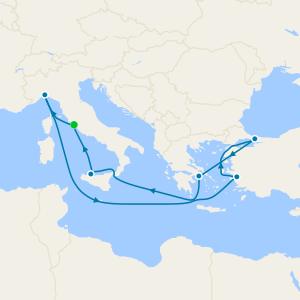 Italy, Turkey & Greece from Rome