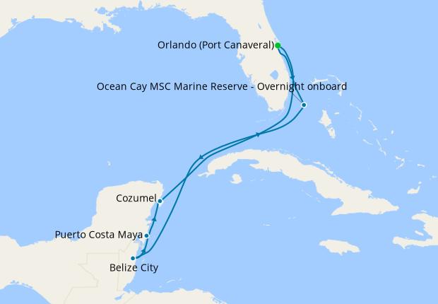 Ocean Cay MSC Marine Reserve - Overnight onboard