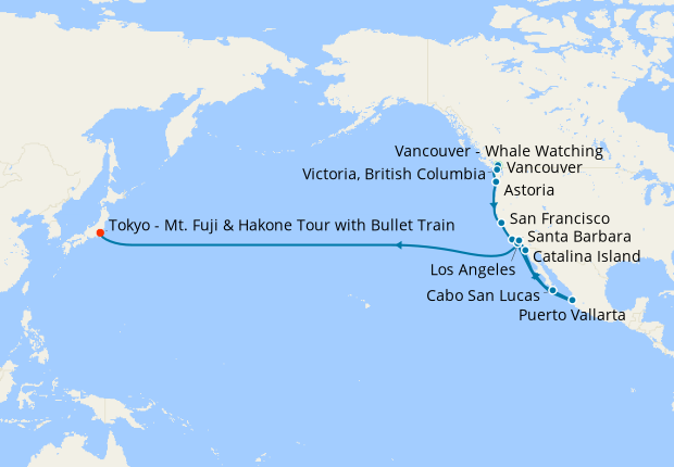 Vancouver, The Killer Whales & Voyage to Japan & Mt. Fuji