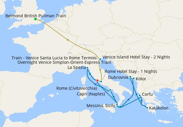 Venice Simplon-Orient-Express, Venice Island & Rome Stays + Croatia & Montenegro