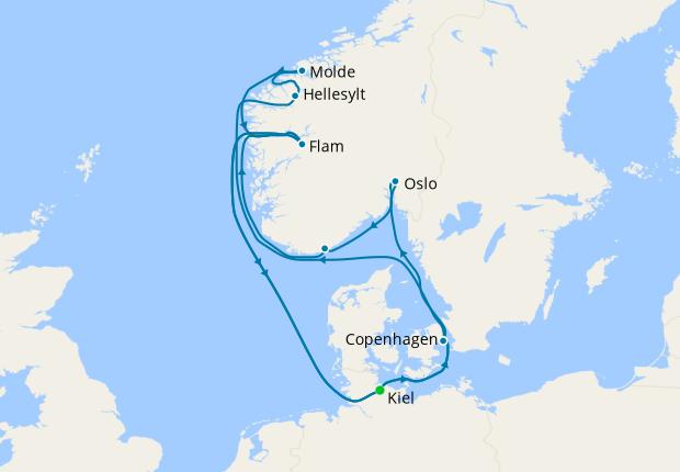 Northern Europe from Kiel