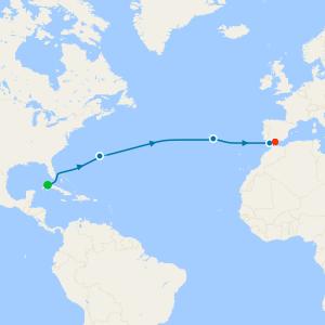 Cuba Transatlantic to Spain from Havana to Malaga