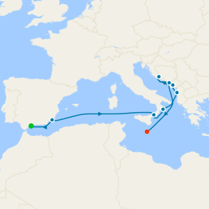 Discovering the Balkans from Malaga to Valletta