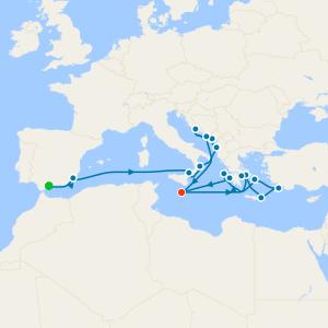 Balkans, Corinth Canal & Ancient Greece from Malaga to Malta