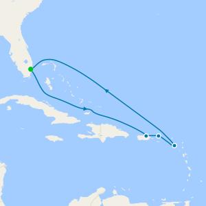San Juan, Tortola & St. Kitts from Ft. Lauderdale