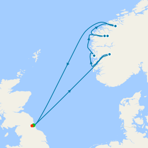 Norwegian Fjords from Newcastle