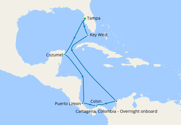 Ultimate Caribbean & The Americas from Tampa