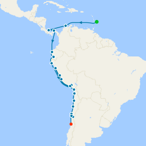 Sailing The Panama Canal & The Humboldt Route from Bridgetown