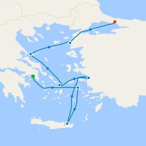 Classic Greek Isles & Ephesus from Athens
