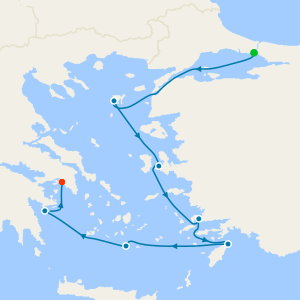 Greek Isles & Turquoise from Istanbul