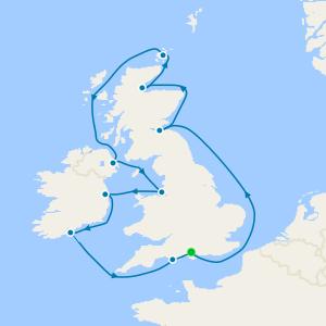 England, Ireland & Scotland from Southampton