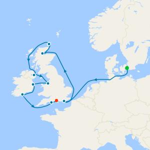 England & Ireland from Copenhagen