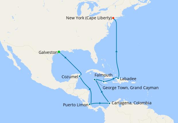Western Caribbean & The Americas from Galveston