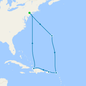Eastern Caribbean & Bermuda from Cape Liberty