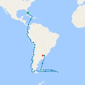 Epic South America & Antarctica from Miami