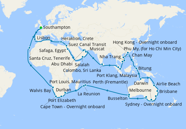 The Centenary World Voyage from Southampton