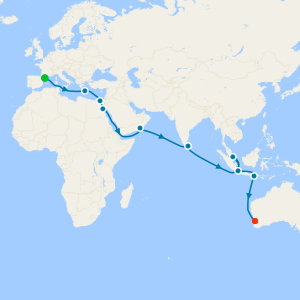 Barcelona to Fremantle