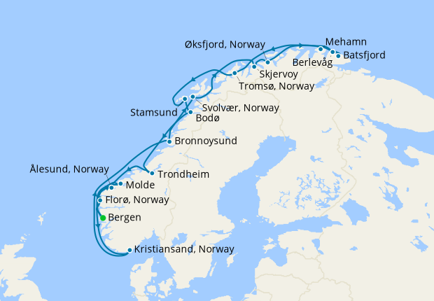 The Classic Roundtrip Voyage from Bergen