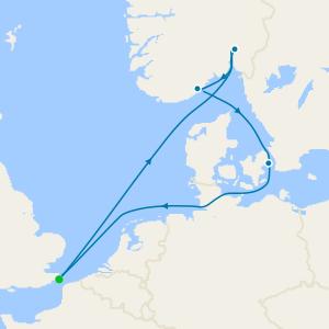 Norway, Sweden & Denmark from Dover