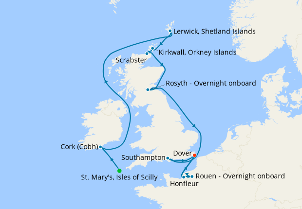Baltic Capitals & St. Petersburg from Dover